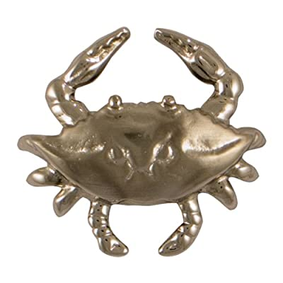 Michael Healy Designs MHR47 Blue Crab Doorbell Ringer, Nickel Silver