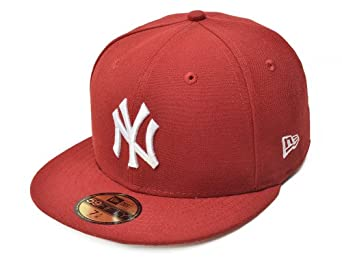 New York Yankees 59Fifty Fitted Cap, Red by New Era