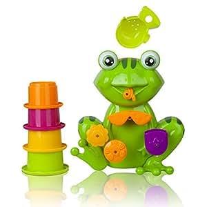 Amazon Com Fun Toddler Bath Toys Interactive Frog Bath