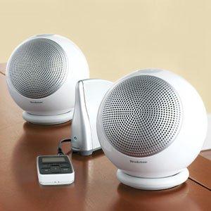Brookstone Podz Rechargeable Wireless Speakers Office