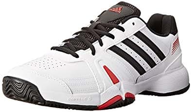 adidas Performance Men's Bercuda 3 Tennis Shoe, Ftwr White/Cblack/Scarle, 11 M US