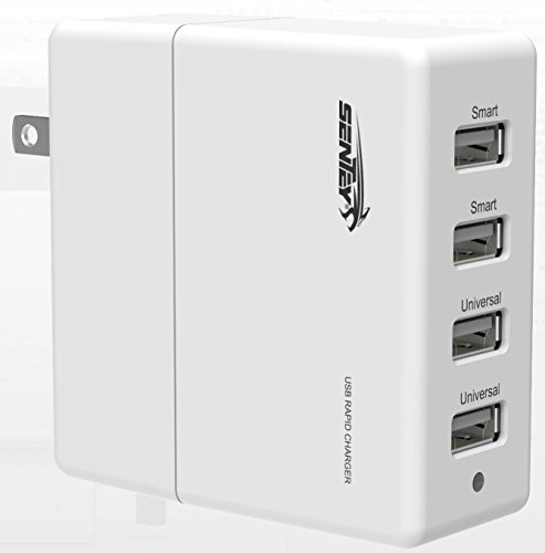 Sentey 4-Port White Usb Wall Charger + 2 Smart Ports 30W Ls-2210 Smart High Capacity [High Power] Ac Travel Wall Charger [High Speed] Fast Charging For Apple Iphone 6 6 Plus 5S 5C 5; Ipad Air; Ipad Air Mini (Retina Display); Ipad 4; Ipad2; Samsung Galaxy