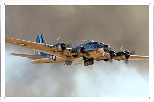 Aircraft Tin Sign #21880 Boeing B 17 Flying Fortress by Waller's Decor (7.8