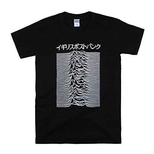 Japanese T Shirt - Pulsar Artwork Joy Division used on Unknown Pleasures - British Post-Punk