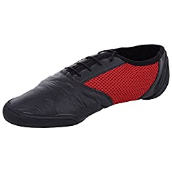 Daniel Clifford F Unisex Black and Red Leather Dancing Shoes - 5 UK