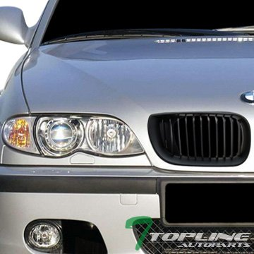 Euro Blk Sport Front Bumper Hood Grill Grille V2 Ft Bmw E46 3-Series Sedan (Front Grill Bmw 325i 2004 compare prices)