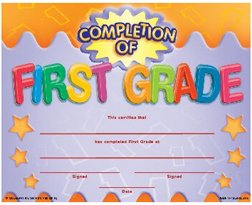 FRANK SCHAFFER PUBLICATIONS COMPLETION OF FIRST GRADE - 1