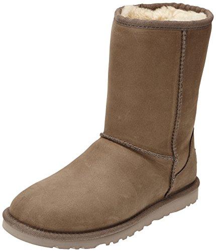 ugg-5825-stivaletti-classic-short-donna-marrone-leather-feather-taglia-39