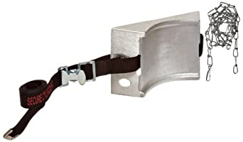 "Talboys 717 Aluminum Cylinder Wall Bracket with Safety Message Strap and Chain, 1.875"" Length x 8.125"" Width x 4.625"" Height"