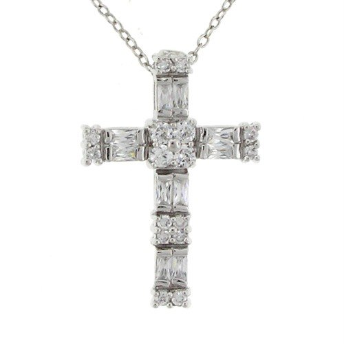 Dazzling Cross Pendant Necklace