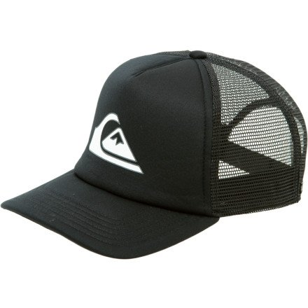 Quiksilver Hard Times 2 Trucker Hat Sangre Red, One Size