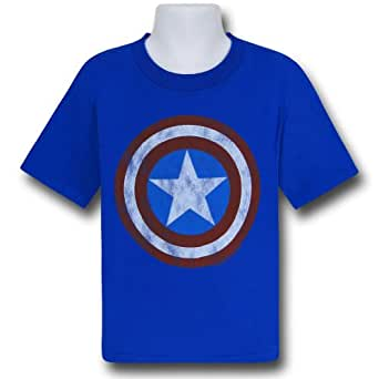 Captain America Shield Junk Food Kids T-Shirt-Toddler