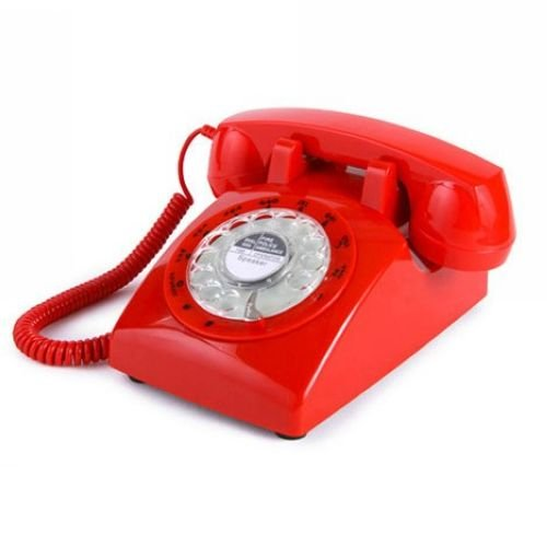 Generic Vintage 1960'S Style Rotary Dial Old Fashioned Desk Telephone - Red Reviews