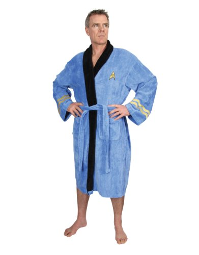 Star Trek Bathrobe, Spock Dressing Gown Bathrobe, Cotton Blue