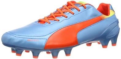 Puma evoSPEED 1.2 L FG 102859 Herren Fußballschuhe, Blau (sharks blue-fluro peach-fluro yellow 04), EU 39 (UK 6) (US 7)