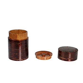Geeklife®Creative Retro Cherry Bark Wood Tea Caddy,Japanese Handcraft Tea Canister,Natural Wooden Tea Container (8×12cm)