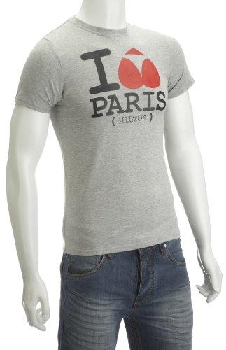 Two Angle Silton Printed Mens T-Shirt Grey Large