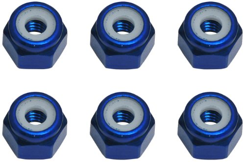Team Associated 6943 8-32 Aluminum Locknut, Blue (6)