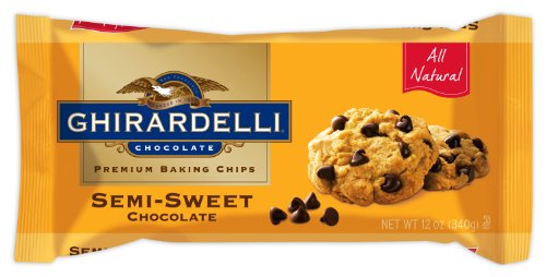 Ghirardelli Chocolate Baking Chips, Semi-Sweet Chocolate, 12-Ounce Bags (Pack of 6)