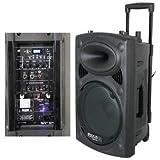 Ibiza Sound PORT12VHF - Altavoces portátiles (1.0, Incorporado, 30 cm, 350W, 40 - 20000 Hz, Inalámbrico y alámbrico) Negro