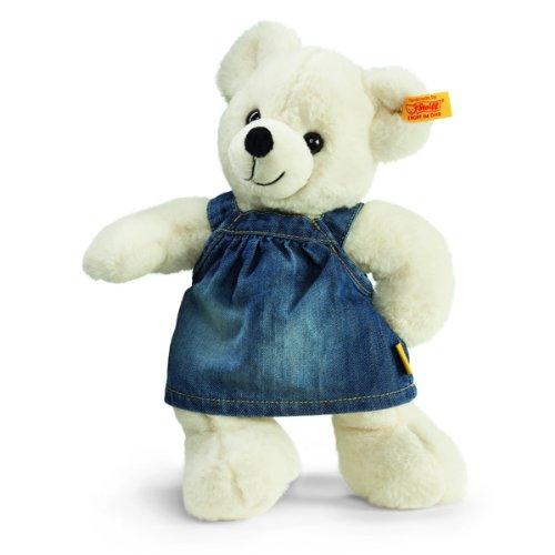 Steiff 113307 - Teddybär Lara 28 cm mit Jeanskleid,
