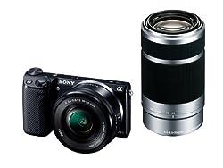 ソニー デジタル一眼カメラ α NEX-5Rダブルズームレンズキット ブラック NEX-5RY/B