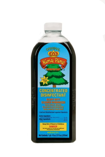 King Pine 19.9% Pure Black Pine Concentrated Disinfectant - 12 Oz - Case Pack 12