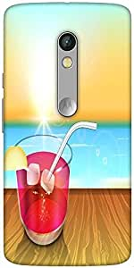 Snoogg Abstract Summer Background Designer Protective Back Case Cover For Motorola Moto X Play