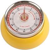 Kikkerland Magnetic Kitchen Timer, Yellow