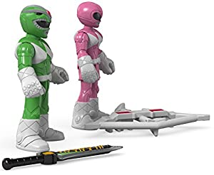 Fisher-Price Imaginext Power Rangers Green Ranger & Pink Ranger Toy Figure