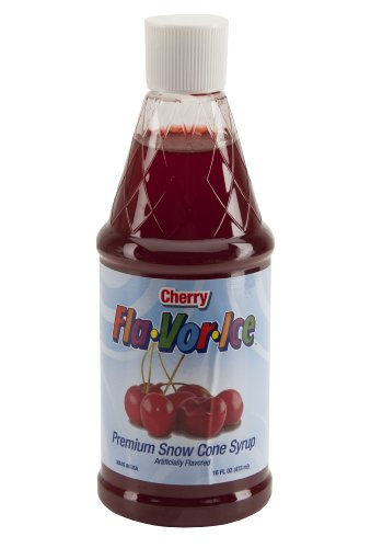 Fla-Vor-Ice FRSS16PDQ-8CH 16-Ounce Snow Cone Syrup, Cherry (Crunchy Ice Maker compare prices)