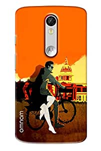 Omnam Boy Riding Bicycle With Girl Near Washigton Dc Printed Back Cover Case For Motorola Moto X Force