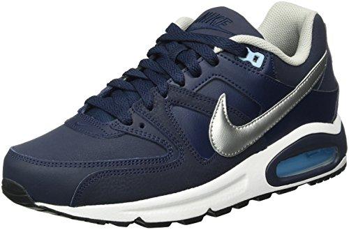 Nike Air Max Command Leather, Scarpe da Ginnastica Uomo, Blu (Obsidian/Mtllc Silver/Blcp/Wht), 43 EU