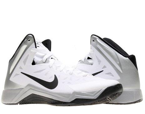 50e591d06453 Nike Zoom Hyperquickness TB Mens Basketball Shoes 599420-100 White 11 M US.  UPC 887225375720