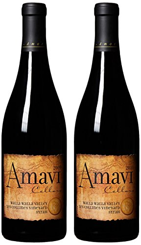Amavi Cellars Les Collines Vineyard Syrah 2009 & 2010 Vintage Vertical Mixed Pack, 2 X 750 Ml