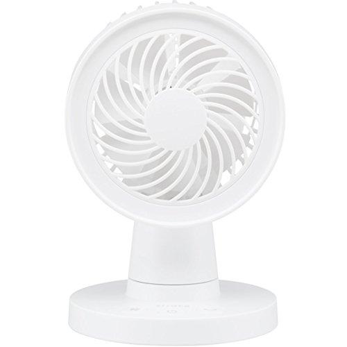 siroca USB卓上扇風機 ホワイト [USB・AC対応/首振り/風量3段階] SDF-129WH