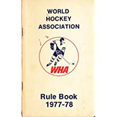 1977 World Hockey Association Rule Book
