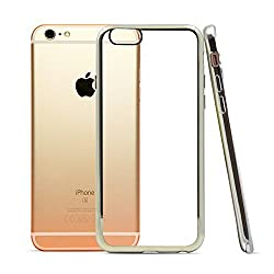 iPhone 6s Case, Eversame Ultra-Thin Shock Resistant Metal Plating Frame and Anti-Scratch Transparent Back TPU Soft Case Cover For iPhone 6 (2014) / 6s (2015) 4.7 Inch (Silver)