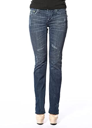 Stitch's Women's Curvy Slim Jeans Worn Straight Leg Design Denim 24