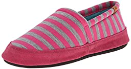 ACORN Women\'s Moc Summer Weight Slip-On Loafer, Pink Stripe, Large/8-9 M US