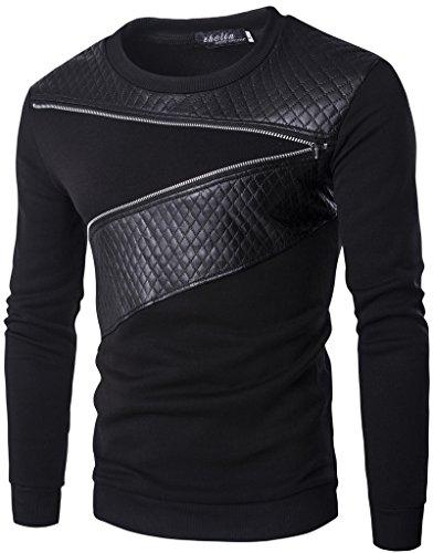 whatlees-herren-basic-urban-asymmetische-design-sweatshirts-mit-kunstleder-einsatz-und-reissverschlu