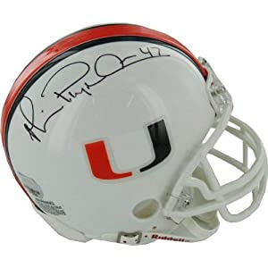 NCAA Miami Hurricanes Michael Irvin Autographed Mini Helmet by Steiner Sports