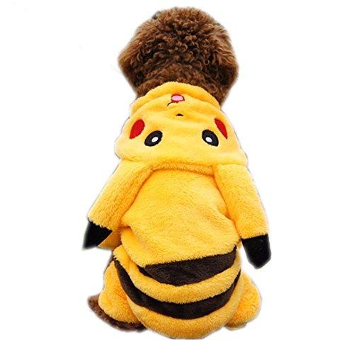 Pikachu Design Pet Costume Dog Clothes (M(Chest 17.3'' Body Length 11.4''))