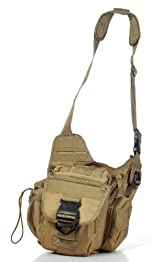 Ultimate Arms Gear Desert Tan Tactical Molle Shoulder Multi Functional Sling Pistol Equipment Field Messenger Bag