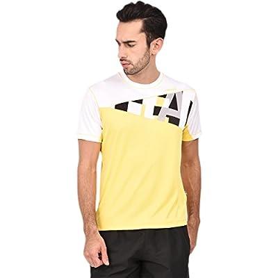 Head Tennis Polo Round Neck T-Shirt HCD240 Yellow/White/Black