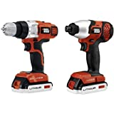 Black & Decker BDCD220IA 20-Volt MAX Lithium-Ion Drill/Driver and Impact Driver with 2 Batteries