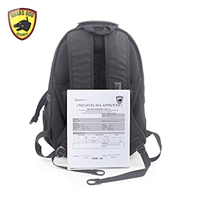 Guard Dog Security ProShield 2 Bulletproof Backpack NIJ Certified IIIA, Multimedia Connections and Enhanced Gel Comfort by Guard Dog Security