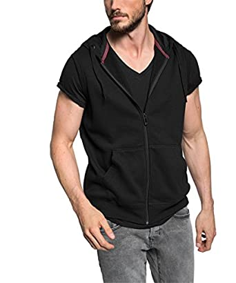 edc by esprit men 39 s weste mit kapuze hooded sleeveless sweatshirt. Black Bedroom Furniture Sets. Home Design Ideas