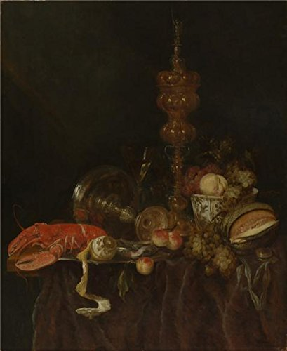 Oil Painting 'Abraham Van Beyeren,Still Life With Lobster And Fruit,1650s', 20 x 24 inch / 51 x 62 cm , on High Definition HD canvas prints is for Gifts And Foyer, Game Room And Kitchen Decoration (Primitive Ceiling Fan Blades compare prices)