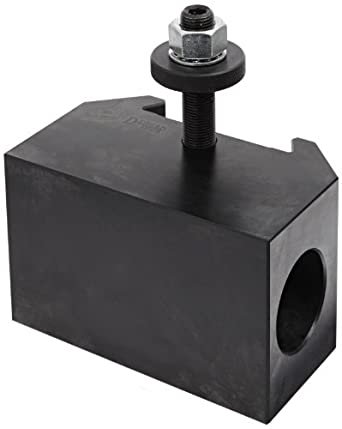 "Dorian Tool QITPN-5 Chromium Molybdenum Alloy Steel Quick Change Morse Taper Toolholder for QITP50N Quadra Indexing Quick Change Tool Post, MT5, 3-1/2"" Height"